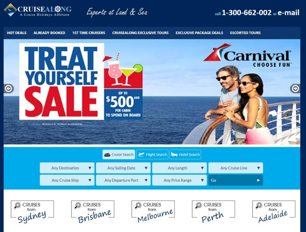 Your Travel Cruise_website booking tool