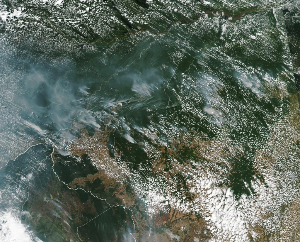 Image (NASA): The scale of the fires is still unclear, but NASA noted they could be spotted from space.