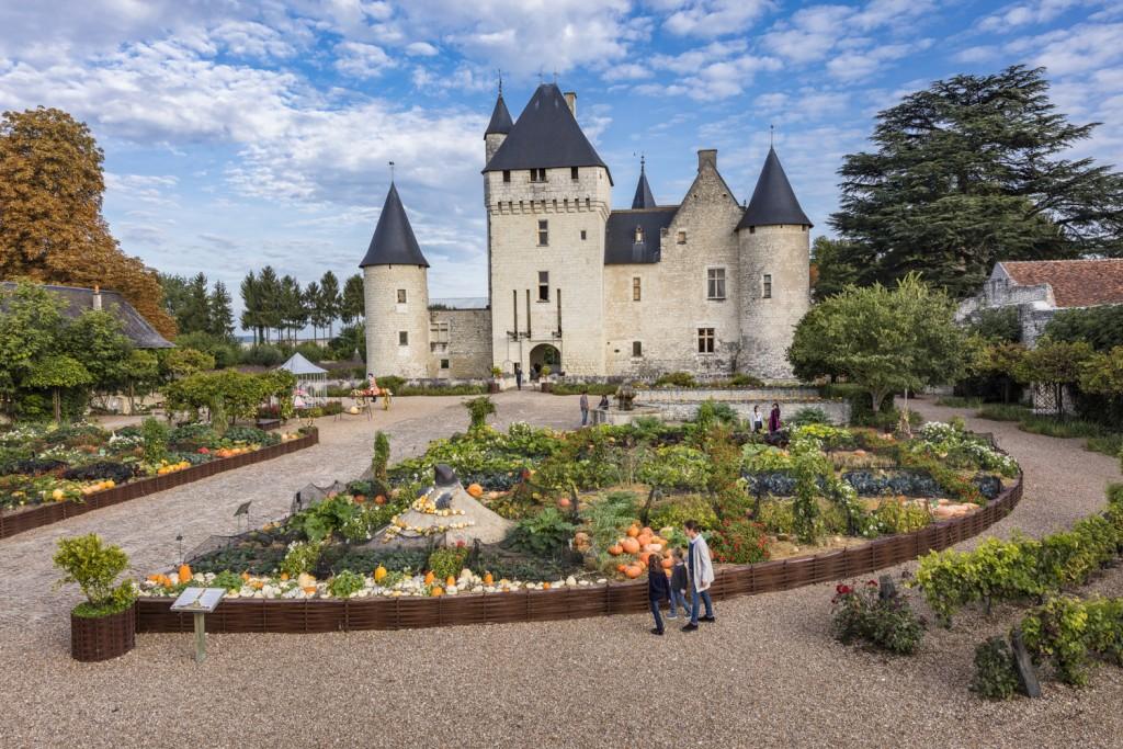 Le château du Rivau et ses jardins : cucurbitacées