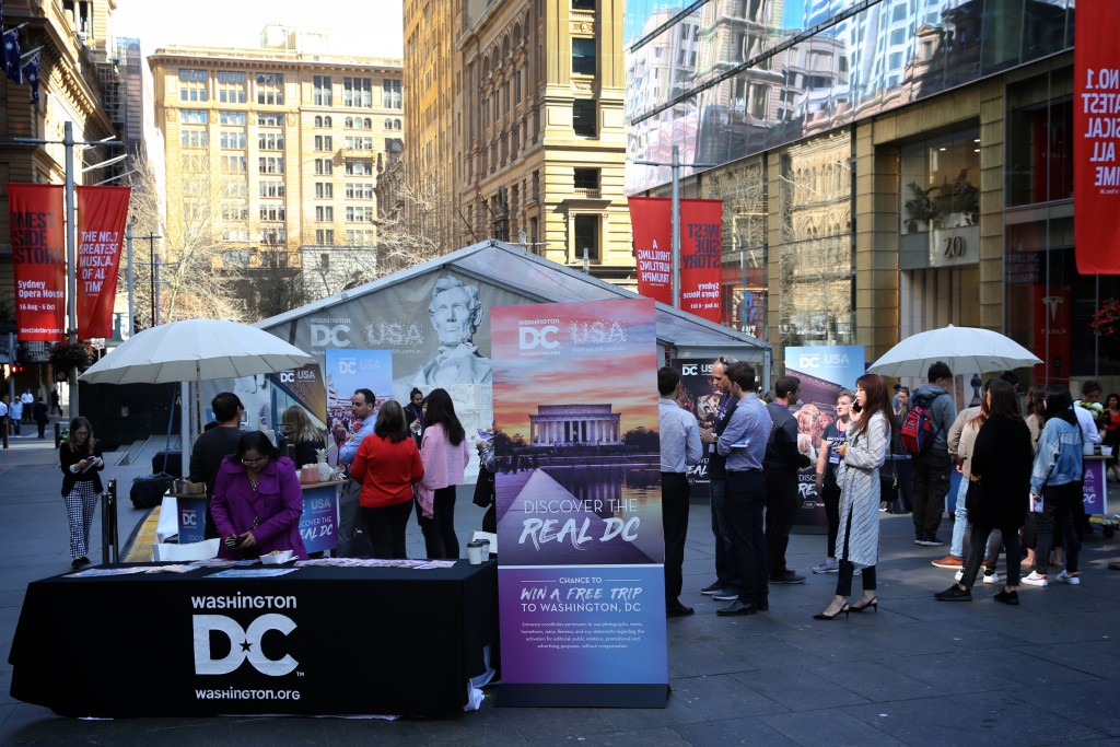 Destination DC Event - Lincoln Activation: Aimed towards consumer travellers.