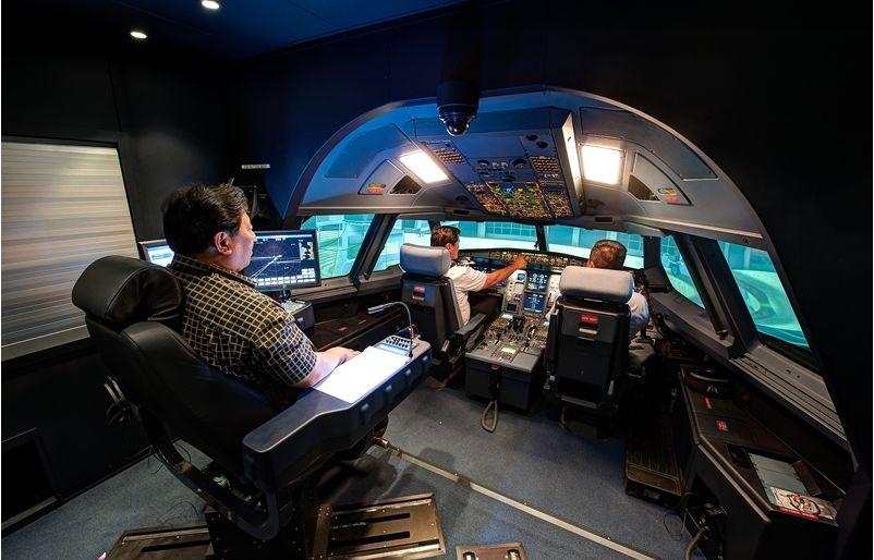Hawaiian Airlines A330 simulator