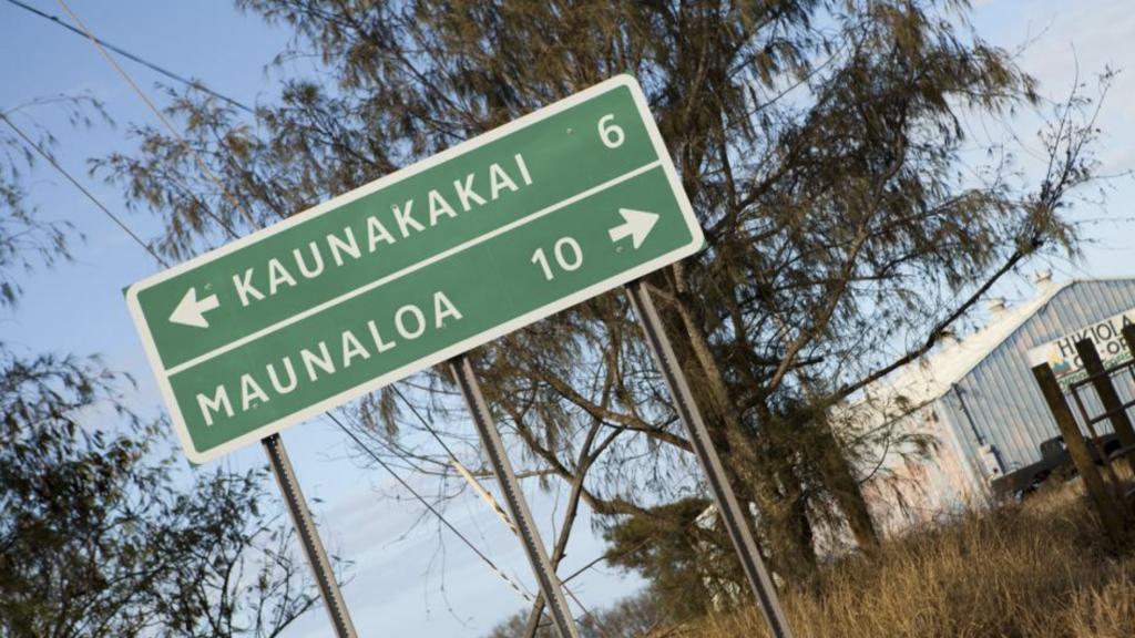 Road sign in Hawaii
