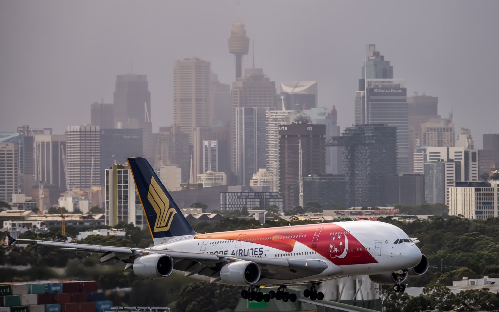 sydney airport singapore airlines