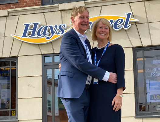 JohnandIrene Hays, joint owners of the Hays Travel Group/Twitter (@HaysTravel)