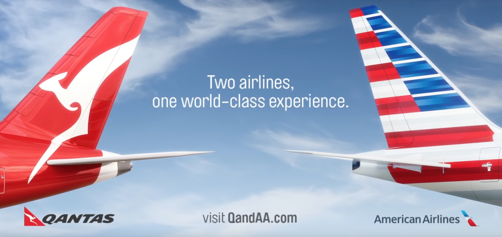 Qantas and American Airlines
