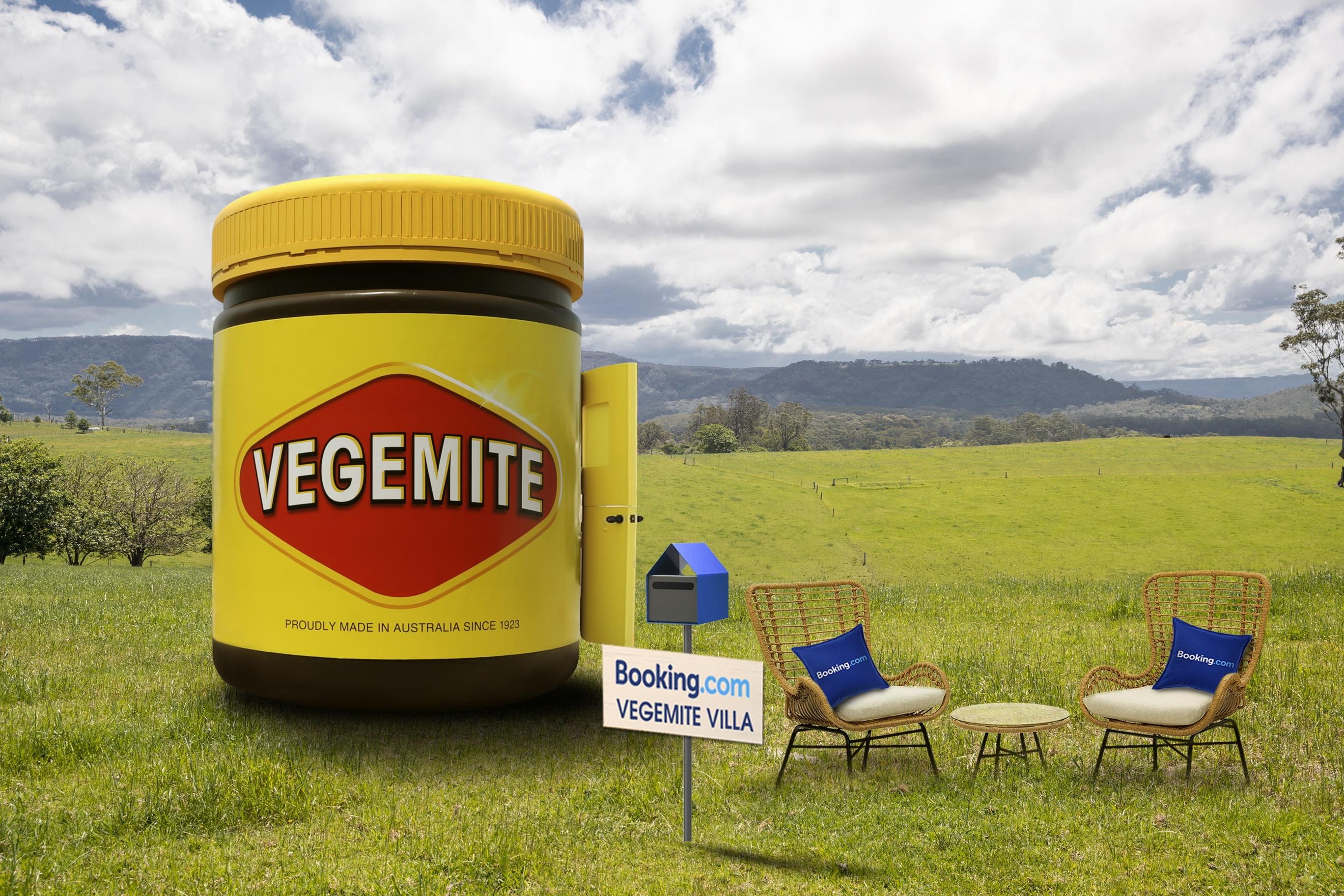 Booking.com lists the most Aussie accommodation ever… a Vegemite Villa!